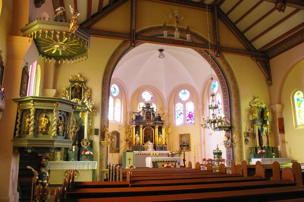 Wnętrze kościoła wKoczale